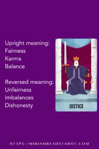 justice major arcana