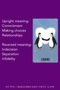lovers major arcana