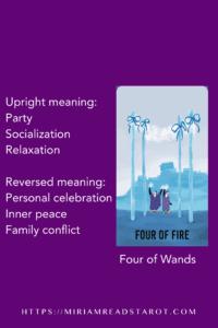 four of wands tarot minor arcana