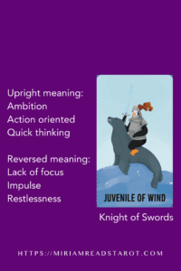 knight of swords minor arcana tarot