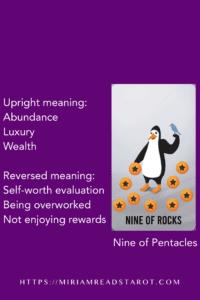 nine of pentacles minor arcana tarot