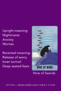 nine of swords minor arcana tarot