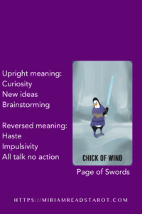 page of swords minor arcana tarot