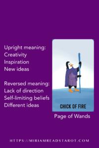 page of wands tarot minor arcana
