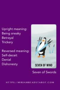 seven of swords minor arcana tarot
