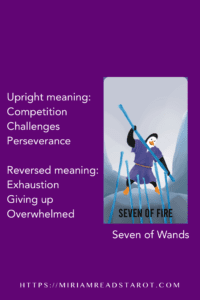 seven of wands tarot minor arcana