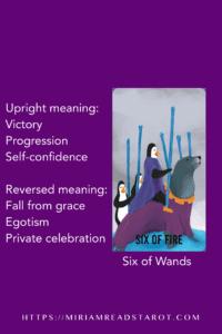 six of wands tarot minor arcana