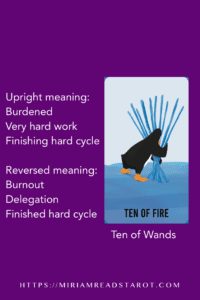 ten of wands tarot minor arcana
