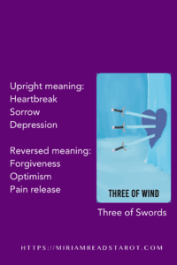 three of swords minor arcana tarot