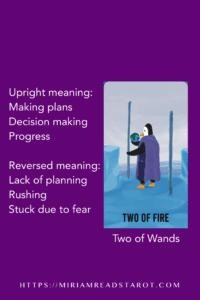 two of wands tarot minor arcana
